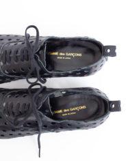 Comme des Garçons geperforeerde zwarte veterschoenen maat 39