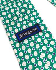 Vintage stropdas groen zijde Yves Saint Laurent