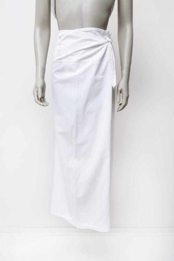 Dries van Noten broek met overslag wit katoen