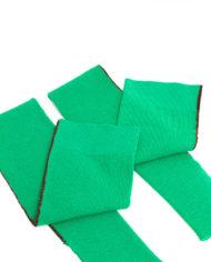 Dries van Noten groene wollen beenwarmers met bies