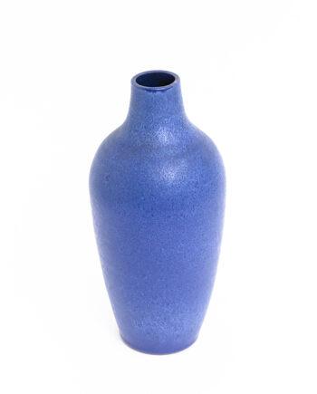 Duitse vaas blauw keramiek Expertic Römhild vintage