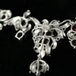 Edwardiaanse collier zilver granaat