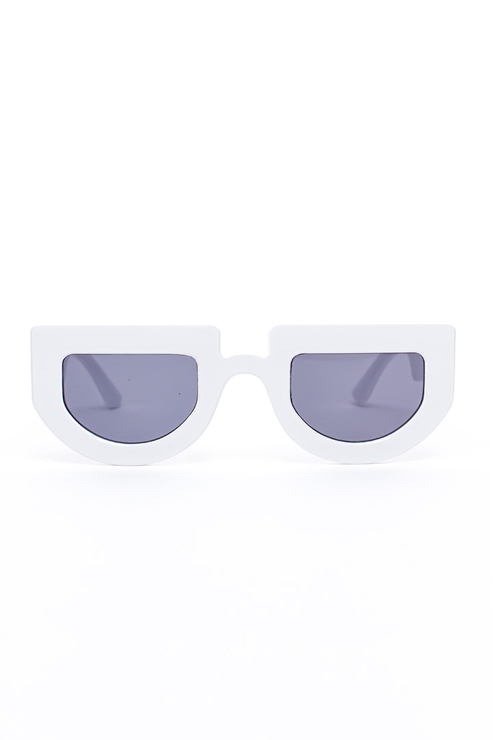 Flat top half circle zonnebril