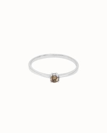 Flawed Desert Femme zilveren ring met steentje