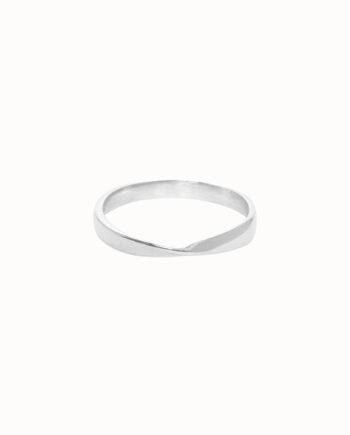 Flawed ring Infinite zilver