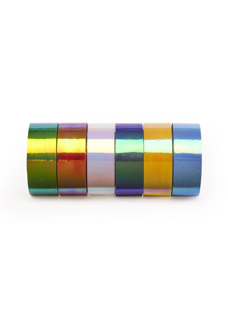 Fluoriserend tape Kikkerland - set met 6 kleuren