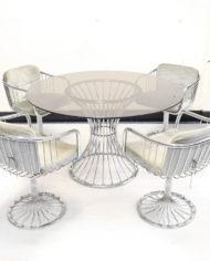 Gastone-Rinaldi-stijl-stoelen-tafel-chrome-draad-6