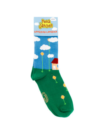 Gekleurde sokken met Lovesick print Rena Jansen