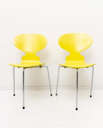 Gele Ant Chair Arne Jacobsen x Fritz Hansen vintage