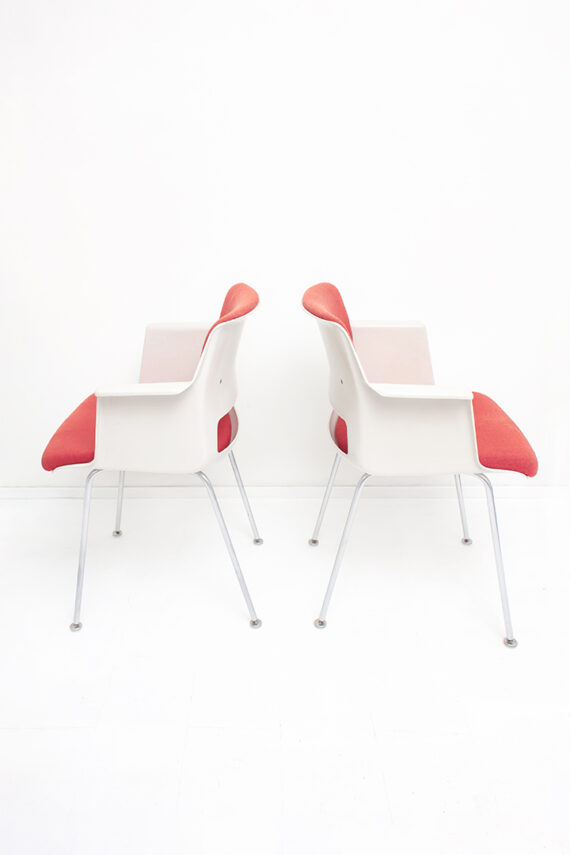 Gispen Cordemeyer 2215 stoel rood jaren 60 - set van 2