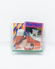 Glazen lectuurbak vintage