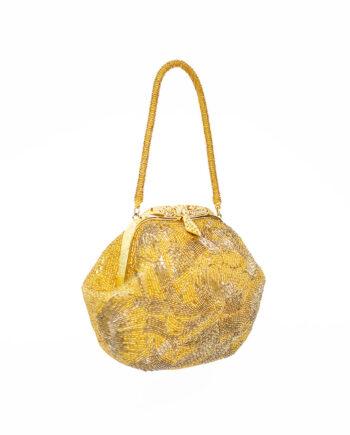 Goudkleurig vintage handtasje van Le Soir uit de jaren 80