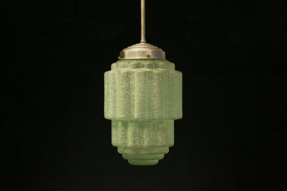 Groene Art Deco lamp Skyscraper