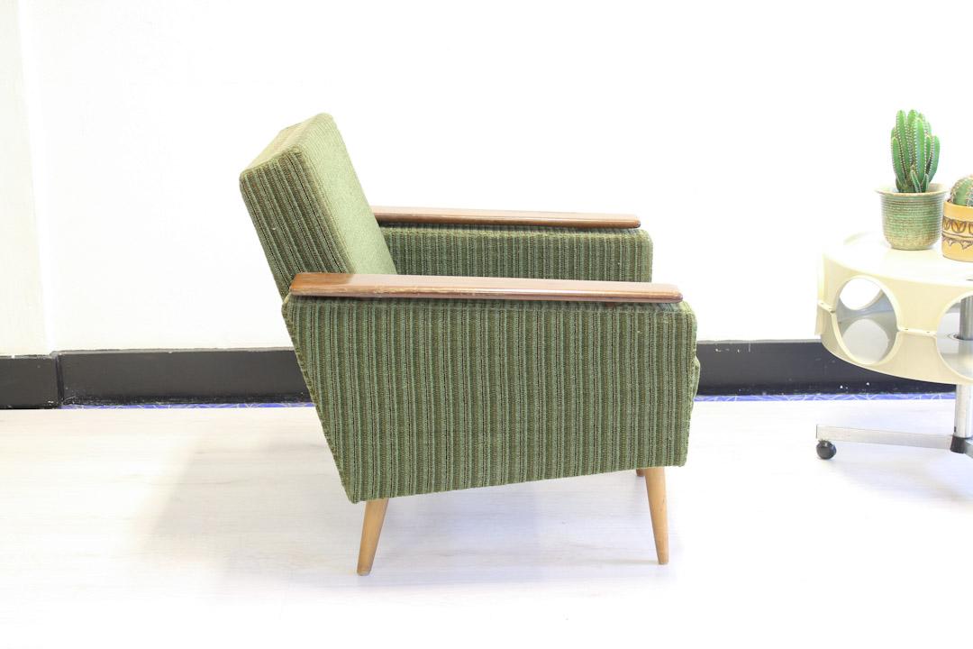 Rib Stoel Groen : Groene vintage fauteuil deens jaren froufrou s