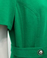Groene wollen jurk Degn Design Denmark vintage