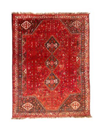 Groot vintage vloerkleed handgeknoopt Perzisch patroon Gaskay 303 x 230 cm