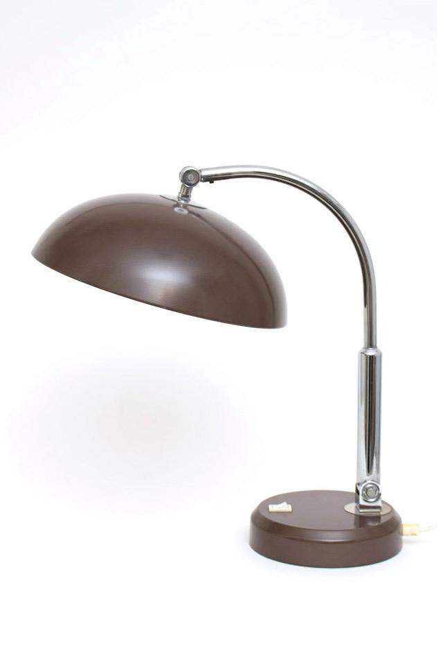 Jaren 70 bruine bureaulamp Hala Busquet p-144 look