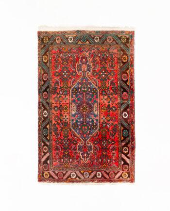 Handgeknoopt Perzisch vloerkleed vintage koraalrood 161 x 101 cm