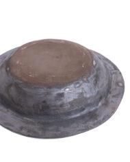 Handgemaakte zwarte schaal van keramiek Franck Coutant