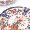 Handgeschilderde bordjes van porselein in Japanse Imari stijl