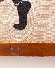 Heidi Lange ingelijst Afrikaans doek met kinderen vintage