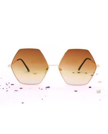 Hexagon zeshoekige zonnebril