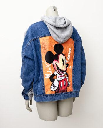 Hoodie Mickey Mouse denim en jersey California Disney