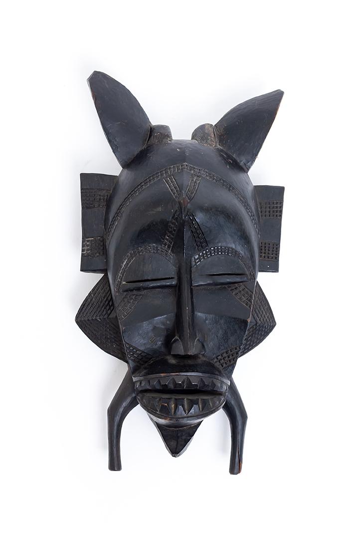 Houten masker Kpeliyee handgemaakt Senufo Poro Ivoorkust