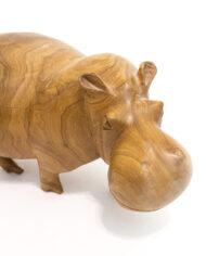 Houten nijlpaard vintage beeld
