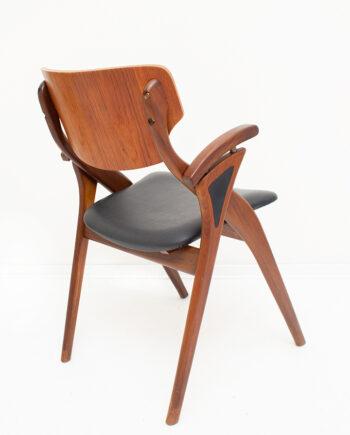 Hovmand Olsen 'schaar' stoel Deens design jaren 60 palissander hout
