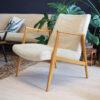 vintage fauteuil creme