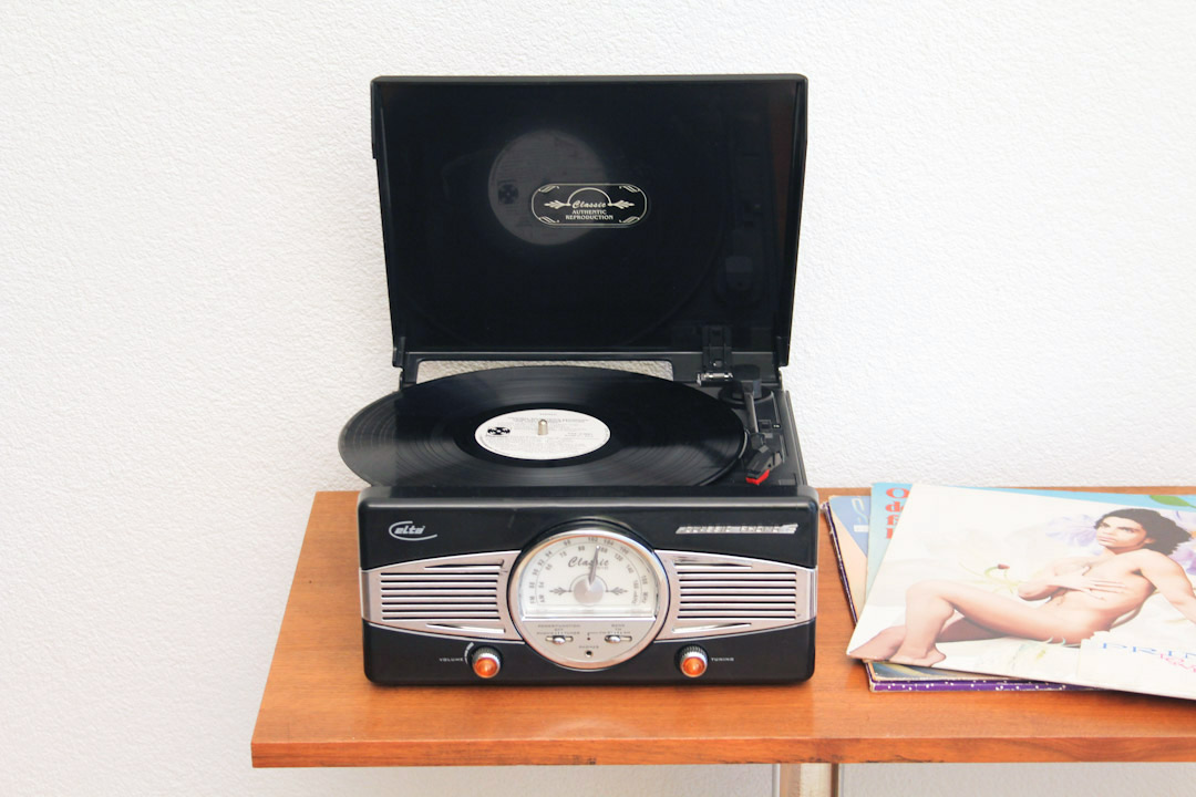 Platenspeler Als Decoratie : Elta retro platenspeler radio froufrous
