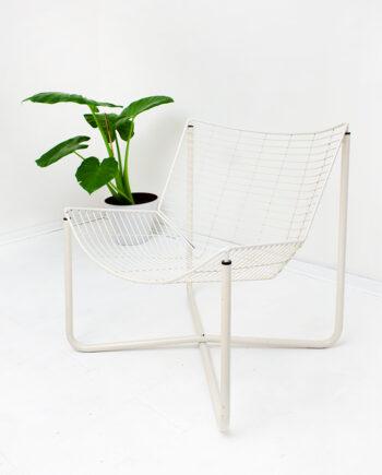 Ikea Järpen Niels Gammelgaard draadstoel fauteuil wit