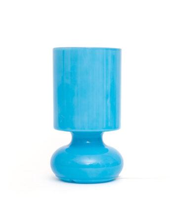 Ikea Lykta tafellamp van glas blauw