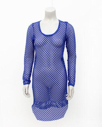 Isabel Marant kobaltblauwe netjurk stretch