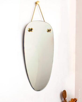 Jaren 60 ovale vintage spiegel Duitsland