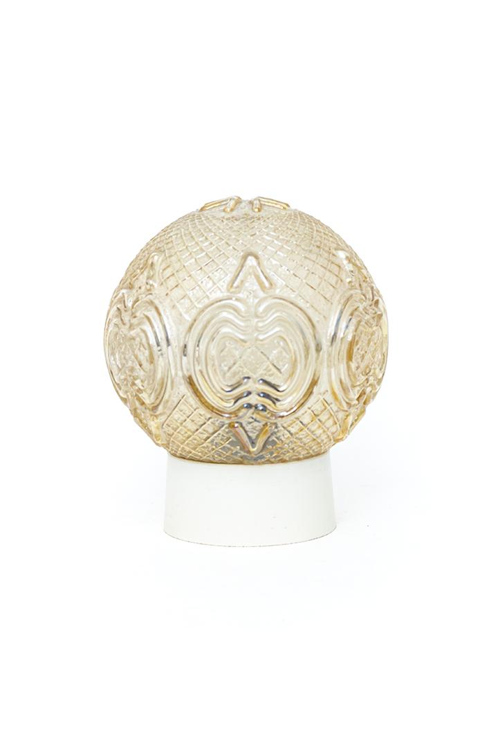 Jaren 60 plafonnière glazen bol met elegante patronen