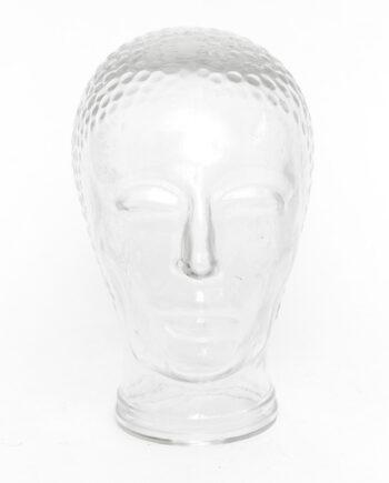 Jaren 70 hoofd van glas vintage