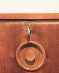 Jaren 70 lage modulaire wandkast met ronde handgreepjes