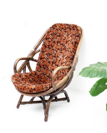Jaren 70 rotan fauteuil