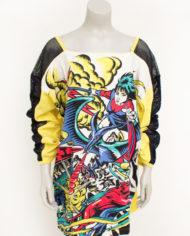 Jaren 80 Kansai Yamamoto t-shirt manga mesh
