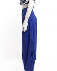 Jaren 90 Gaultier lange broek / rok donkerblauw katoen