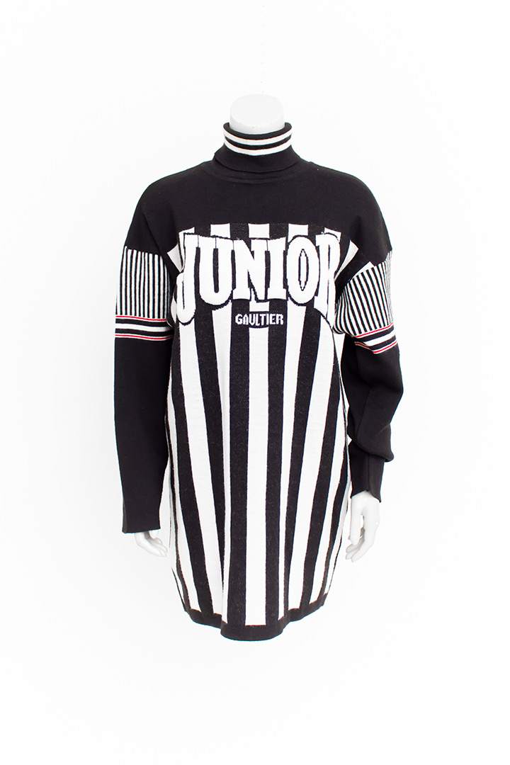 Jean Paul Gaultier Junior gebreide jaren 90 logo trui