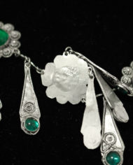 Jugendstil-collier-groen-kristal-4