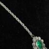 Jugendstil collier groen kristal
