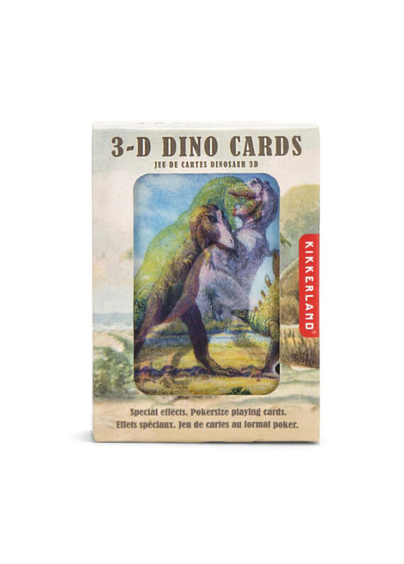 Kaartspel Kikkerland met 3D dinosaurussen