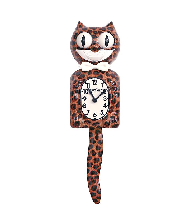 Kit-Cat Klock Cheetah jachtluipaard klok