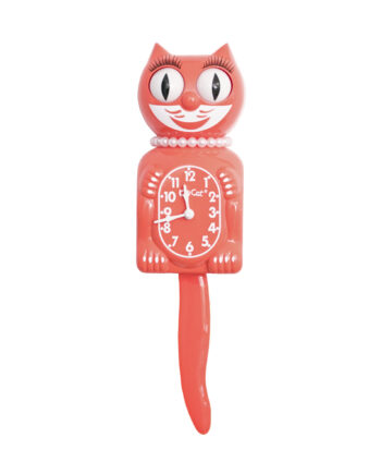 Kit Cat Klock Living Coral Lady