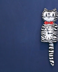 Kit Cat Klock Zebra klok