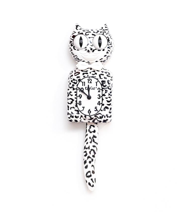 Kit-Cat Sneeuwluipaard klok